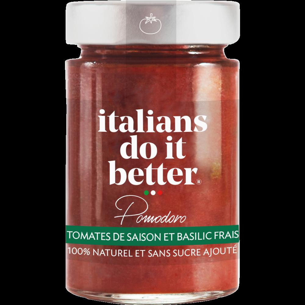 Sauce pomodoro tomates de saison et basilic frais,  Italians do it better (190 g), 190g