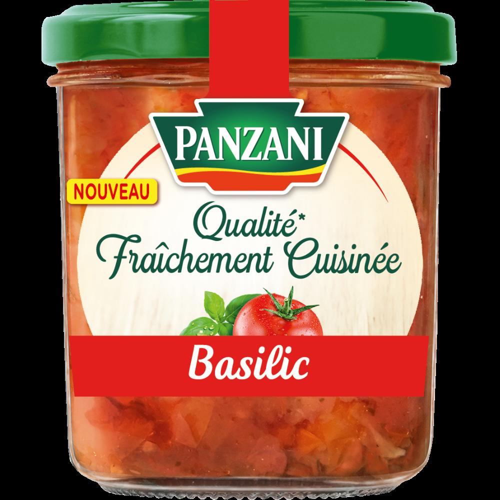 Sauce tomate basilic qualité fraîchement cuisinée, Panzani (320 g)