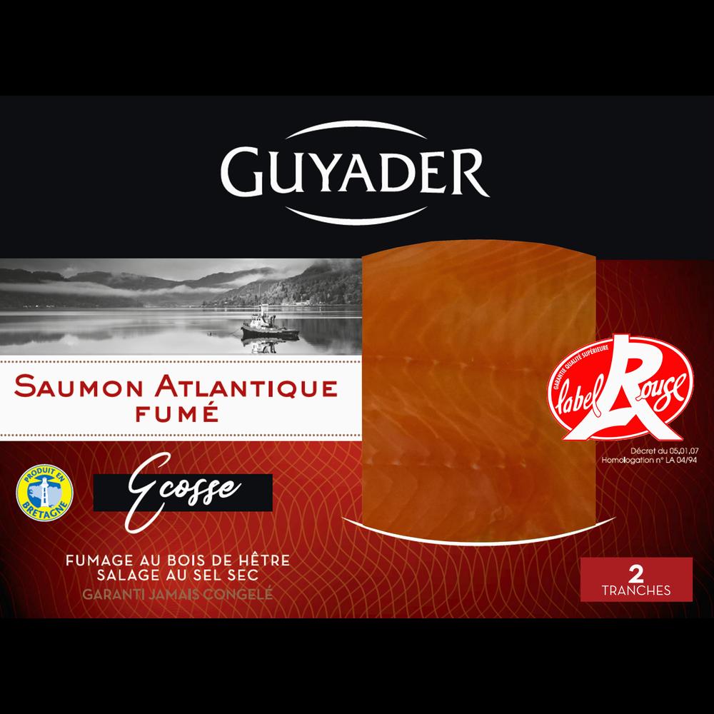 Saumon fumé Ecosse Label Rouge, Guyader (2 tranches, 80 g)