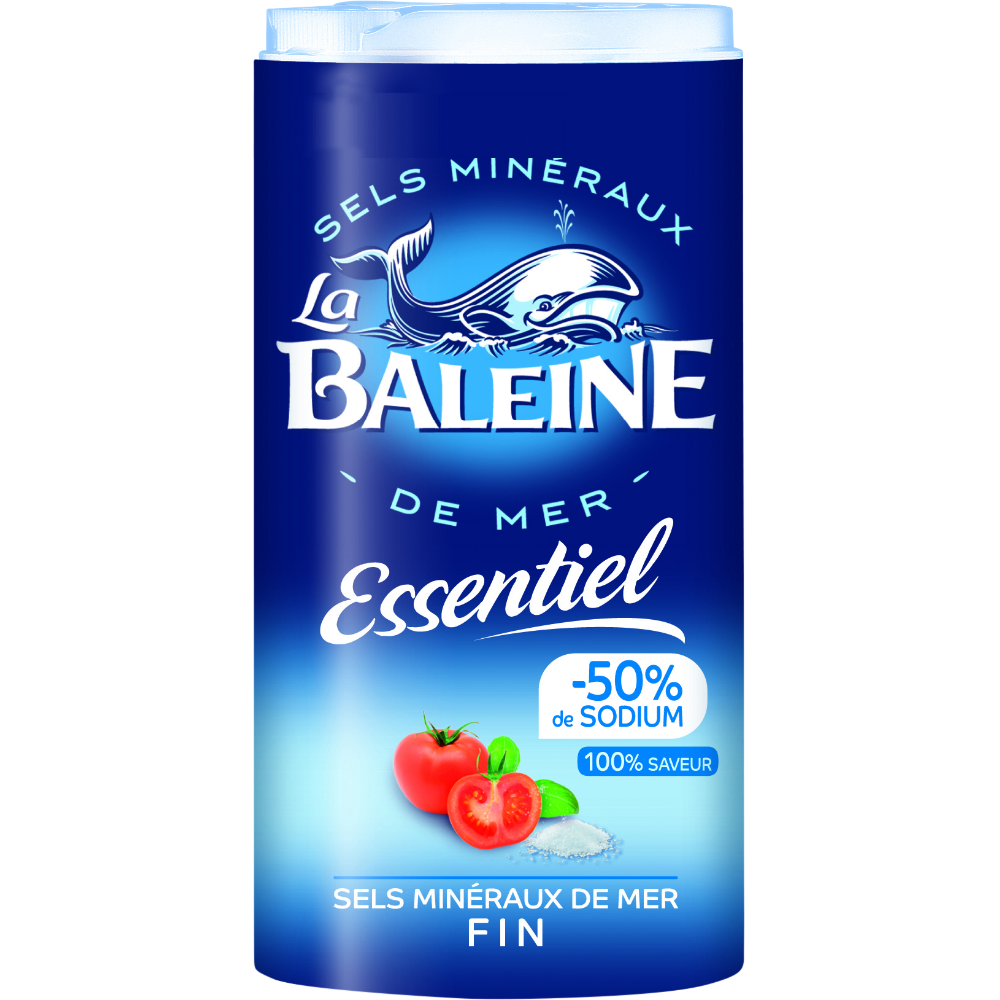 Sel fin Essentiel -50% de sodium, La Baleine (350 g)