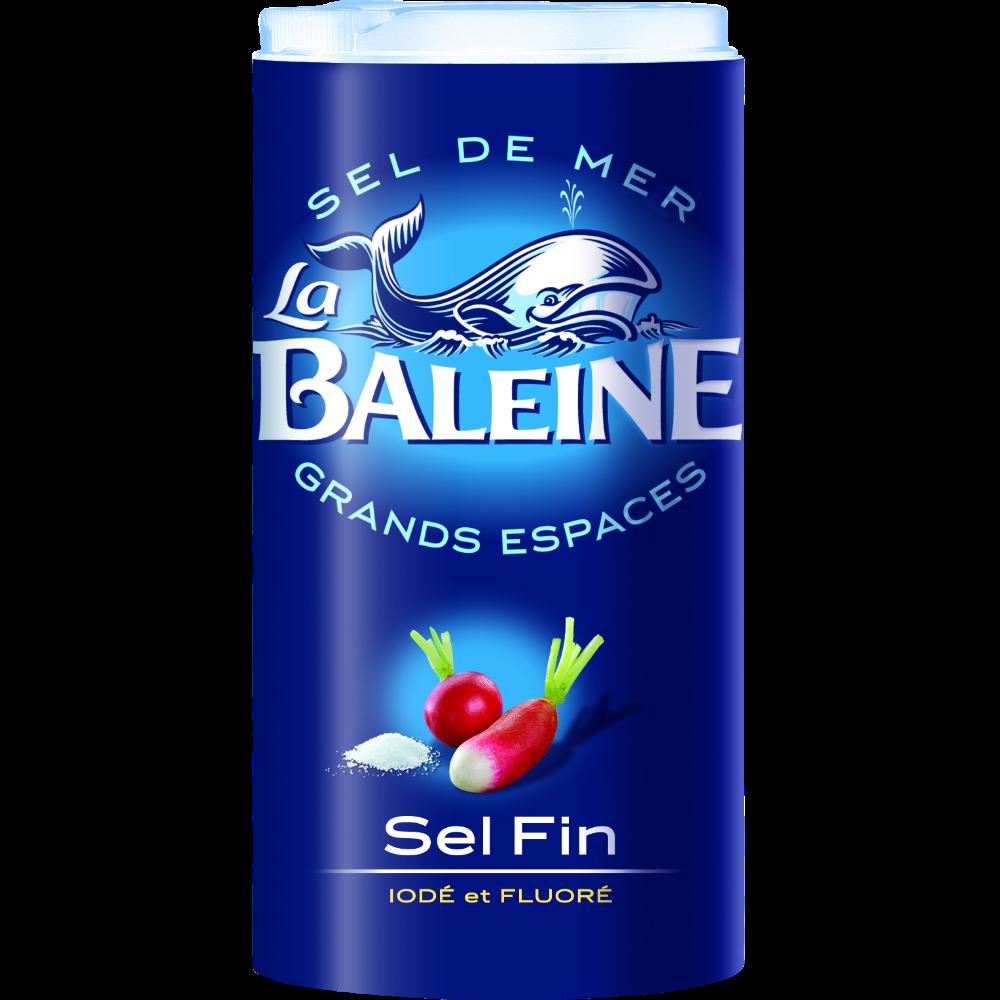 Sel fin iodé et fluoré, La Baleine (600 g)