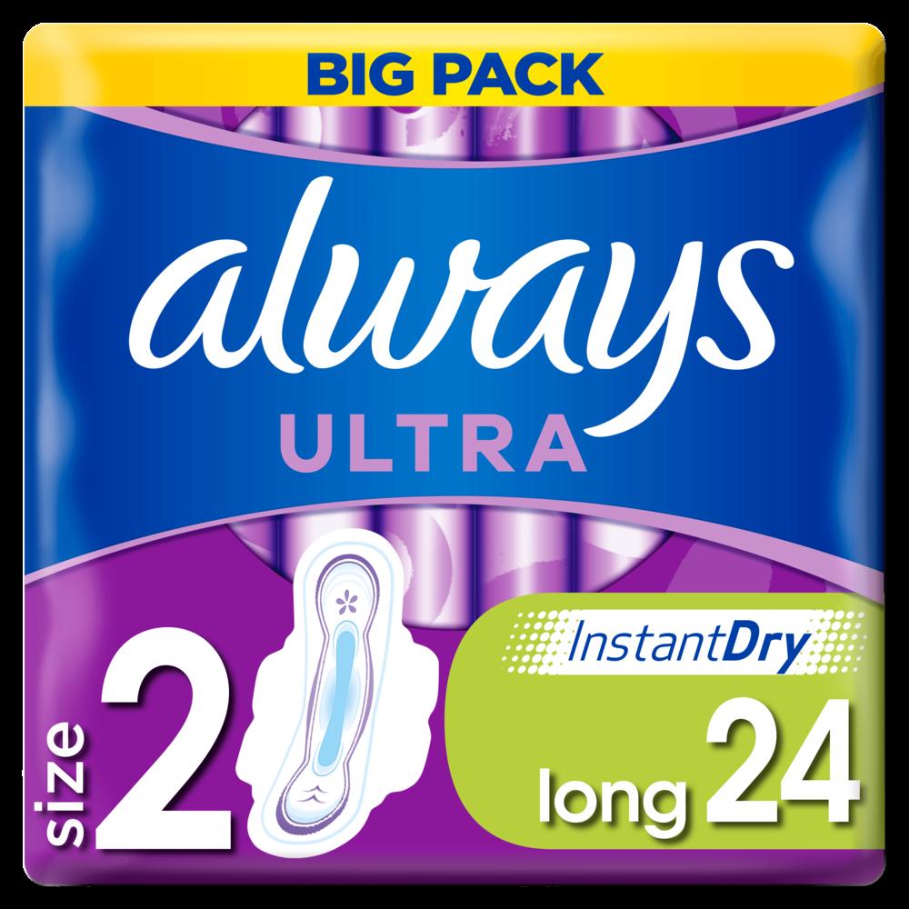 Serviettes Ultra Long Plus T2, Always (x 24)