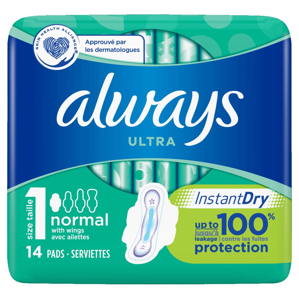 Serviettes Ultra Normal Plus T1, Always (x 14)