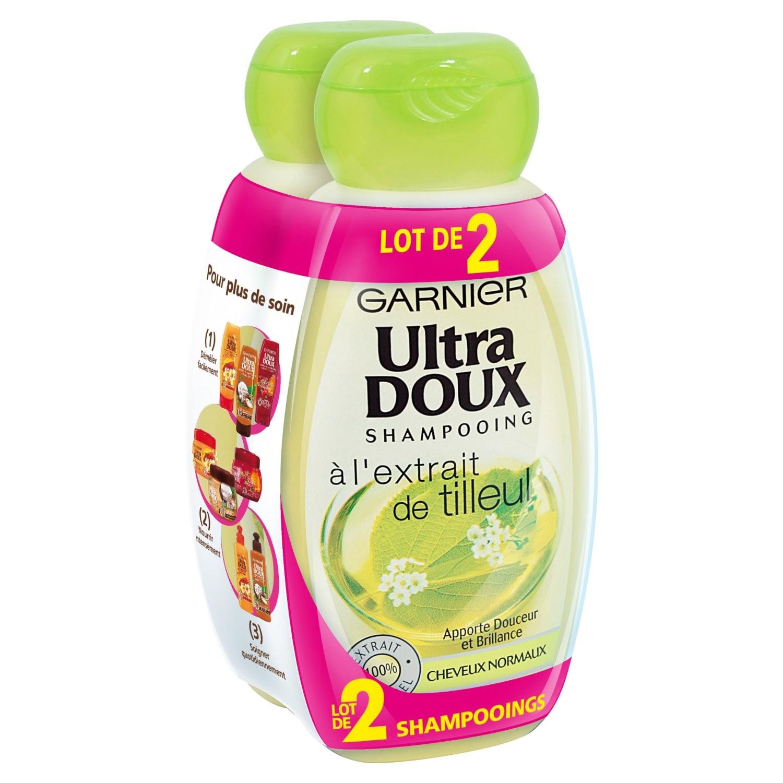 Shampoing Tilleul, Ultra Doux LOT DE 2 (2 x 250 ml)