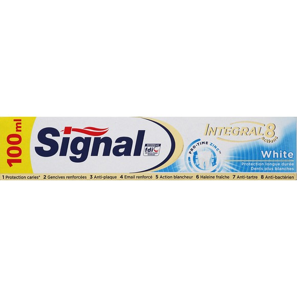 Dentifrice Integral 8 Blanc, Signal (75 ml)