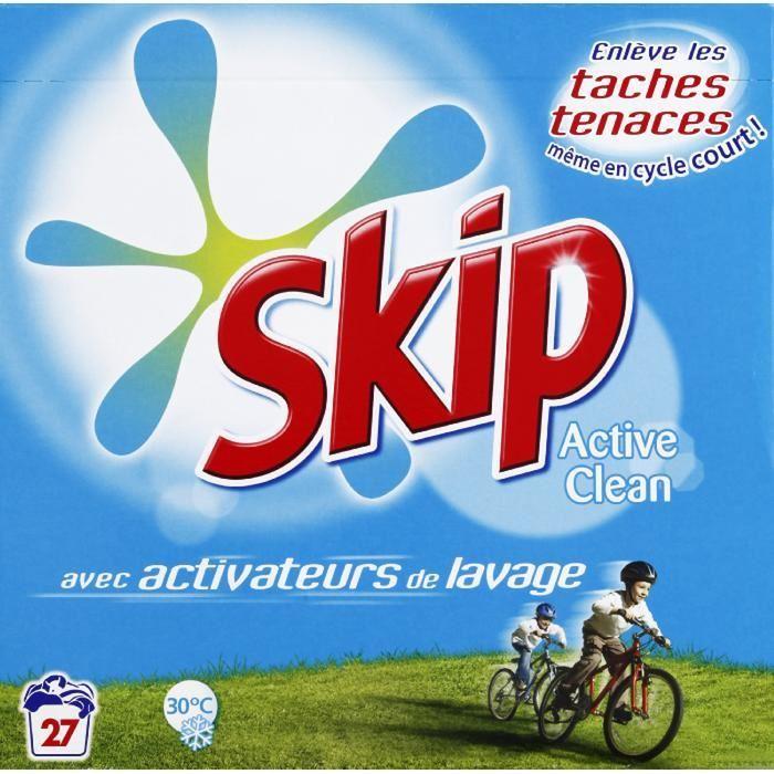 Lessive en poudre Activ Clean, Skip (1.89 kg)