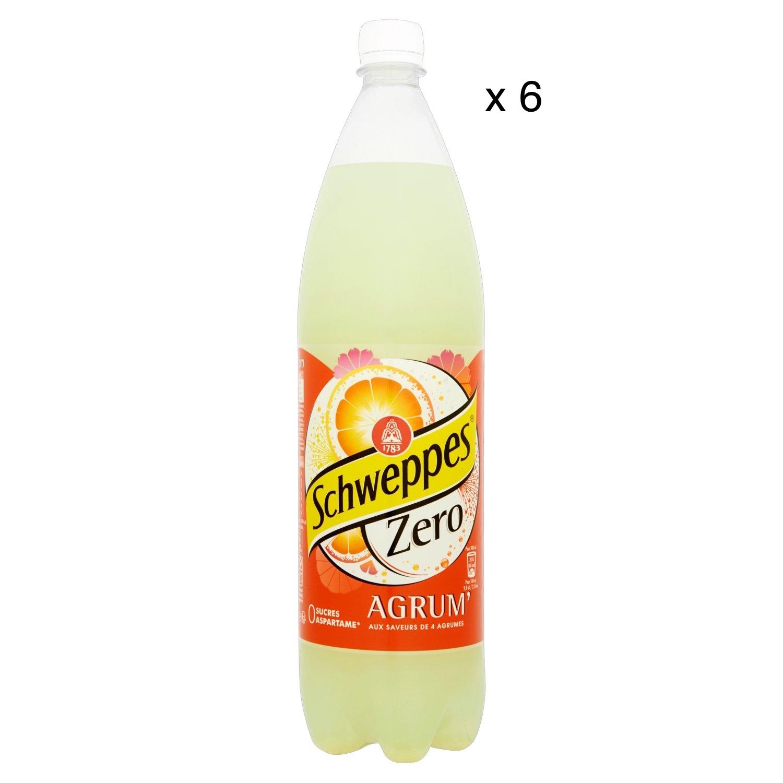 Pack de Schweppes Agrum'Zero (6 x 1,5 L)