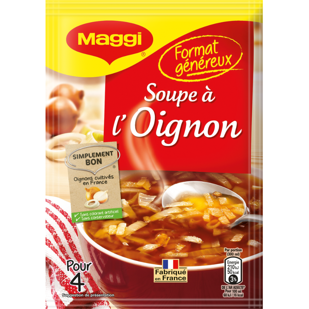 Soupe à l'oignon déshydratée, Maggi (61 g)