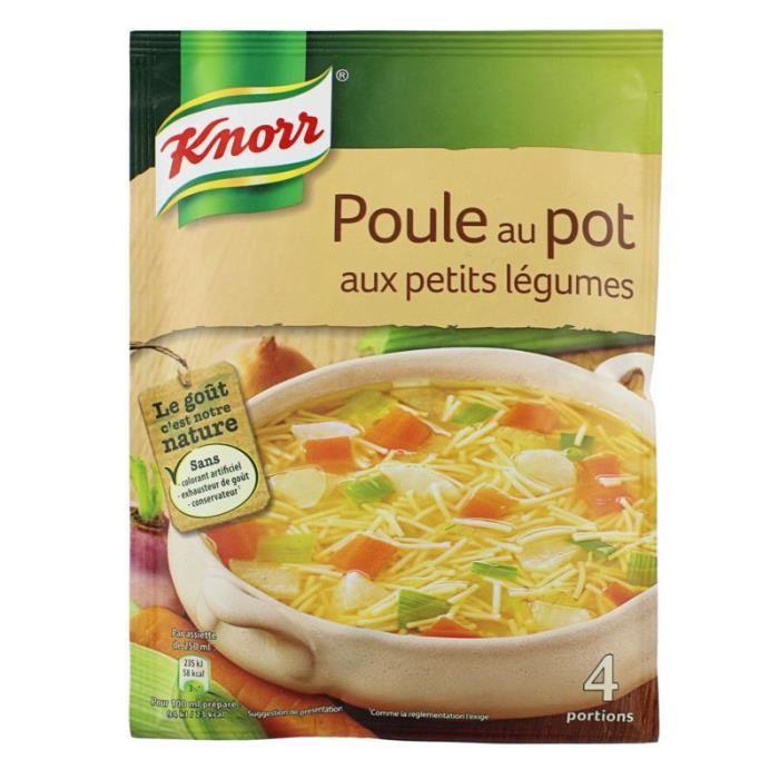 Soupe poule au pot déshydratée, Knorr (72 g)