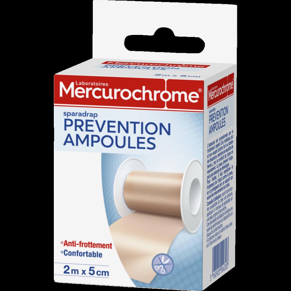 Sparadrap préventif ampoules anti frottement, Mercurochrome
