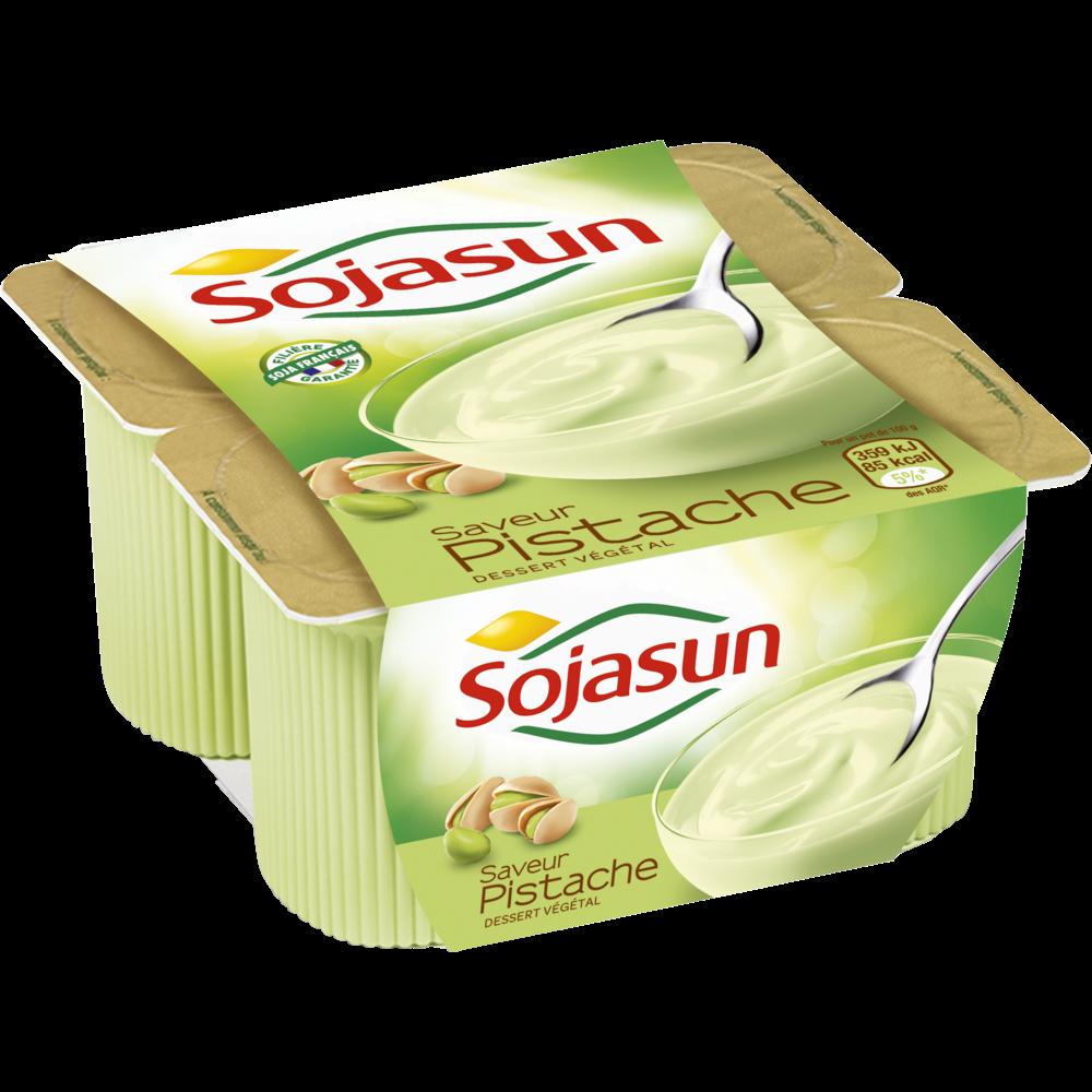 Dessert végétal saveur pistache, Sojasun (4 x 100 g)