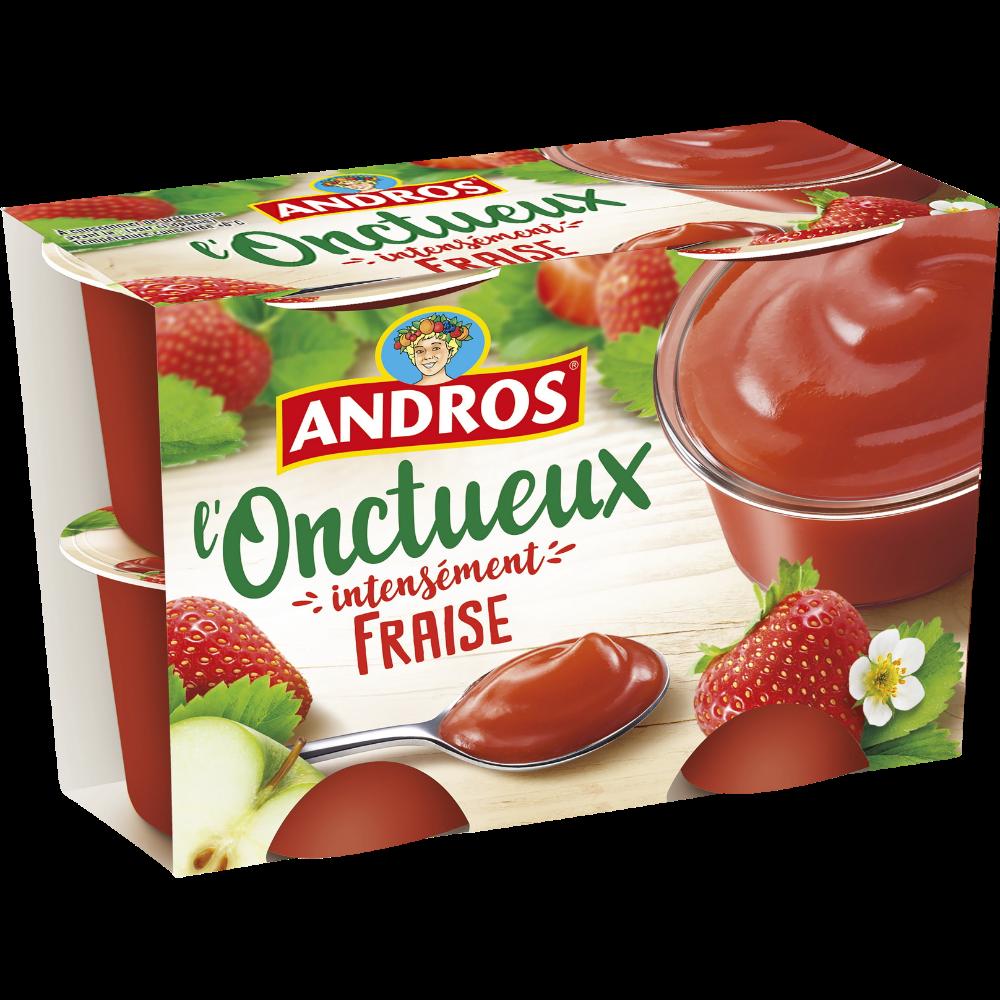 Spécialité L'Onctueux aux fraises, Andros (4 x 97 g)