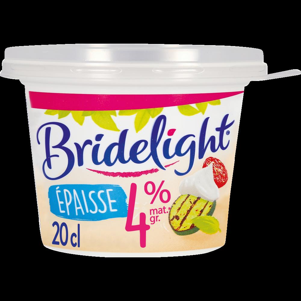 Crème fraîche épaisse 4% MG, Bridelight (20 cl)