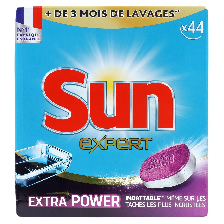 Tablettes pour lave-vaisselle Tout en 1 extra power, Sun (44 doses / OFFRE SPECIALE 50 doses)