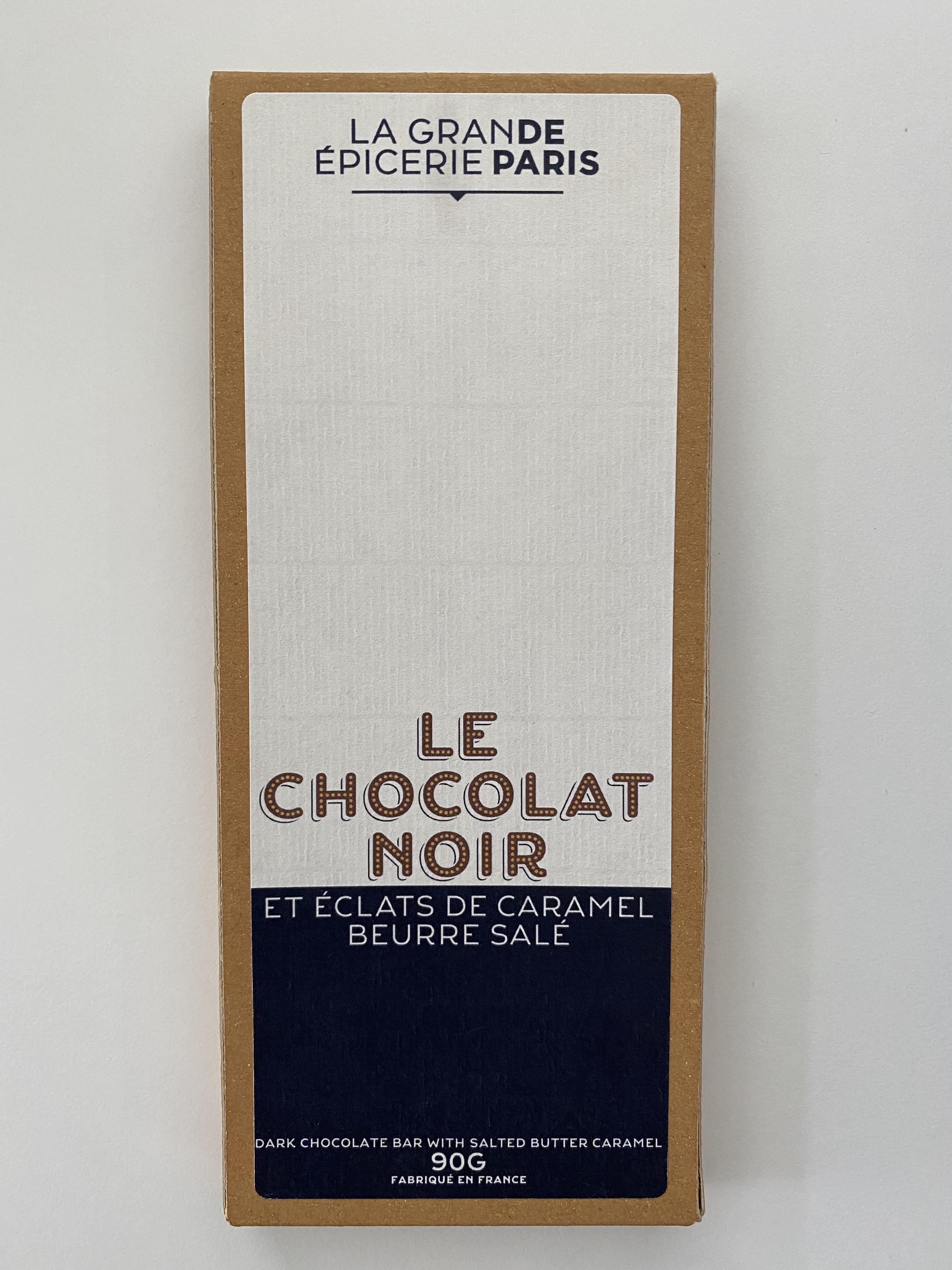 Tablette de chocolat noir au caramel beurre salé, La Grande Epicerie de Paris (90 g)