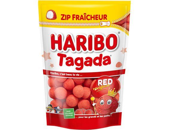 Bonbons fraise Tagada sachet fraicheur Zip, Haribo (220 g)