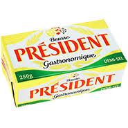 Beurre demi sel gastronomique, Président (250 g)