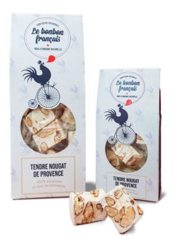Tendre nougat de Provence aux amandes et au miel, Le Bonbon Français (50 g)