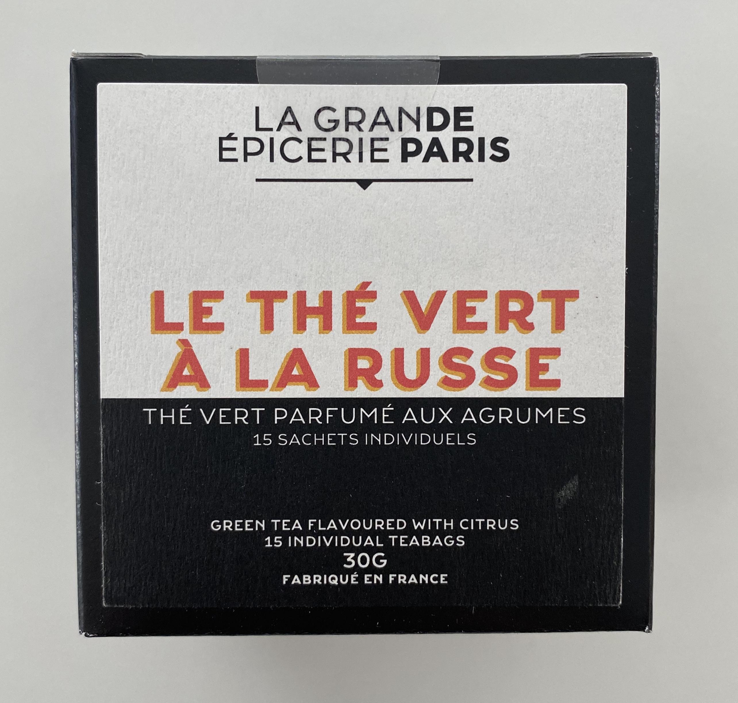 Thé à la Russe, thé vert aux agrumes, La Grande Epicerie de Paris (x 15)