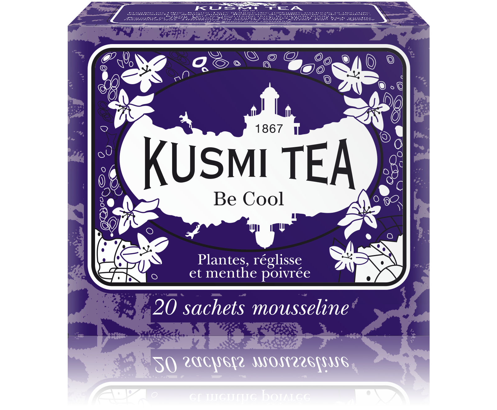 Thé Be Cool étui sachets mousseline, Kusmi Tea (x 20, 44 g)