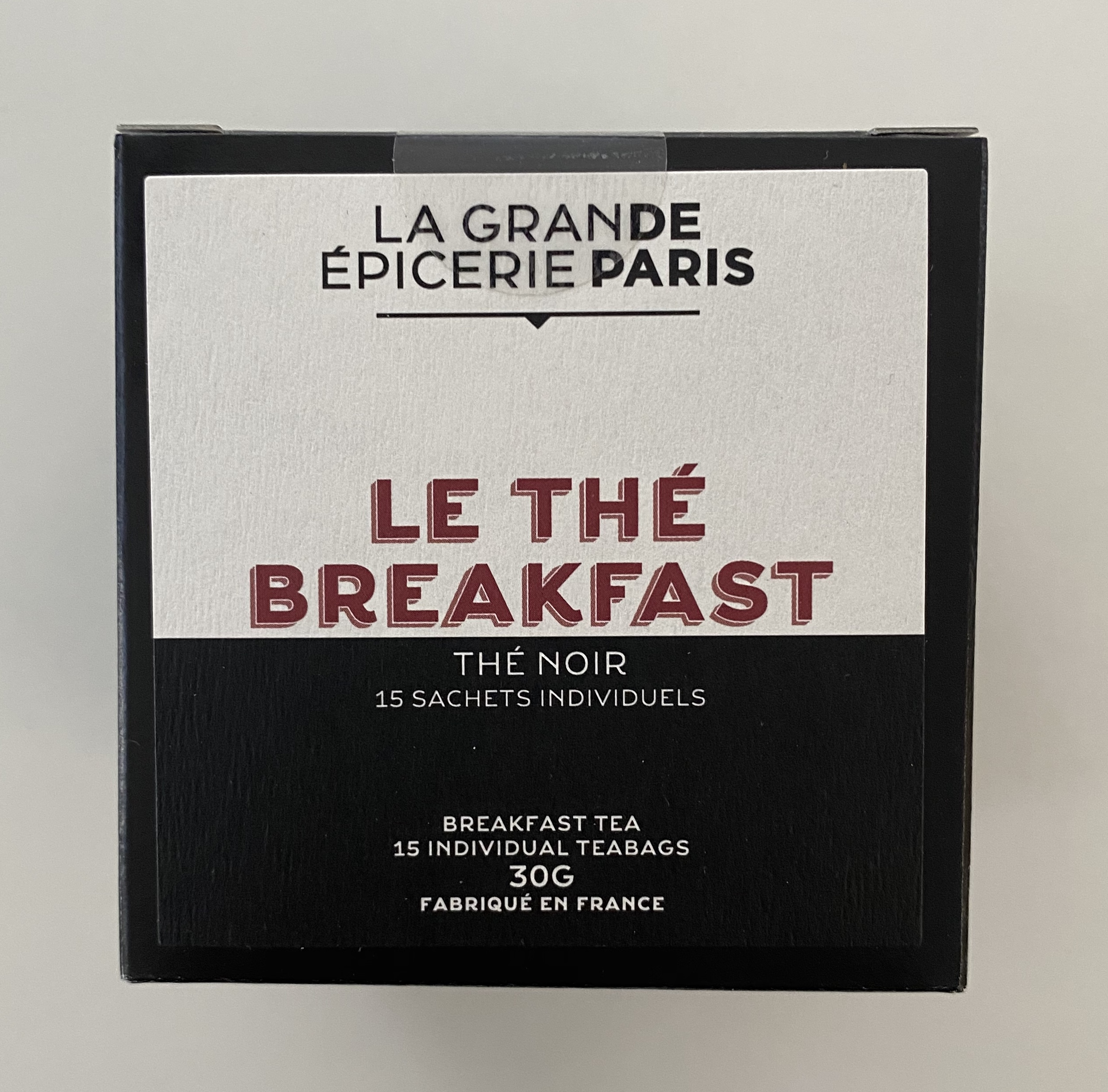 Thé Breakfast, thé noir, La Grande Epicerie de Paris (x 15)