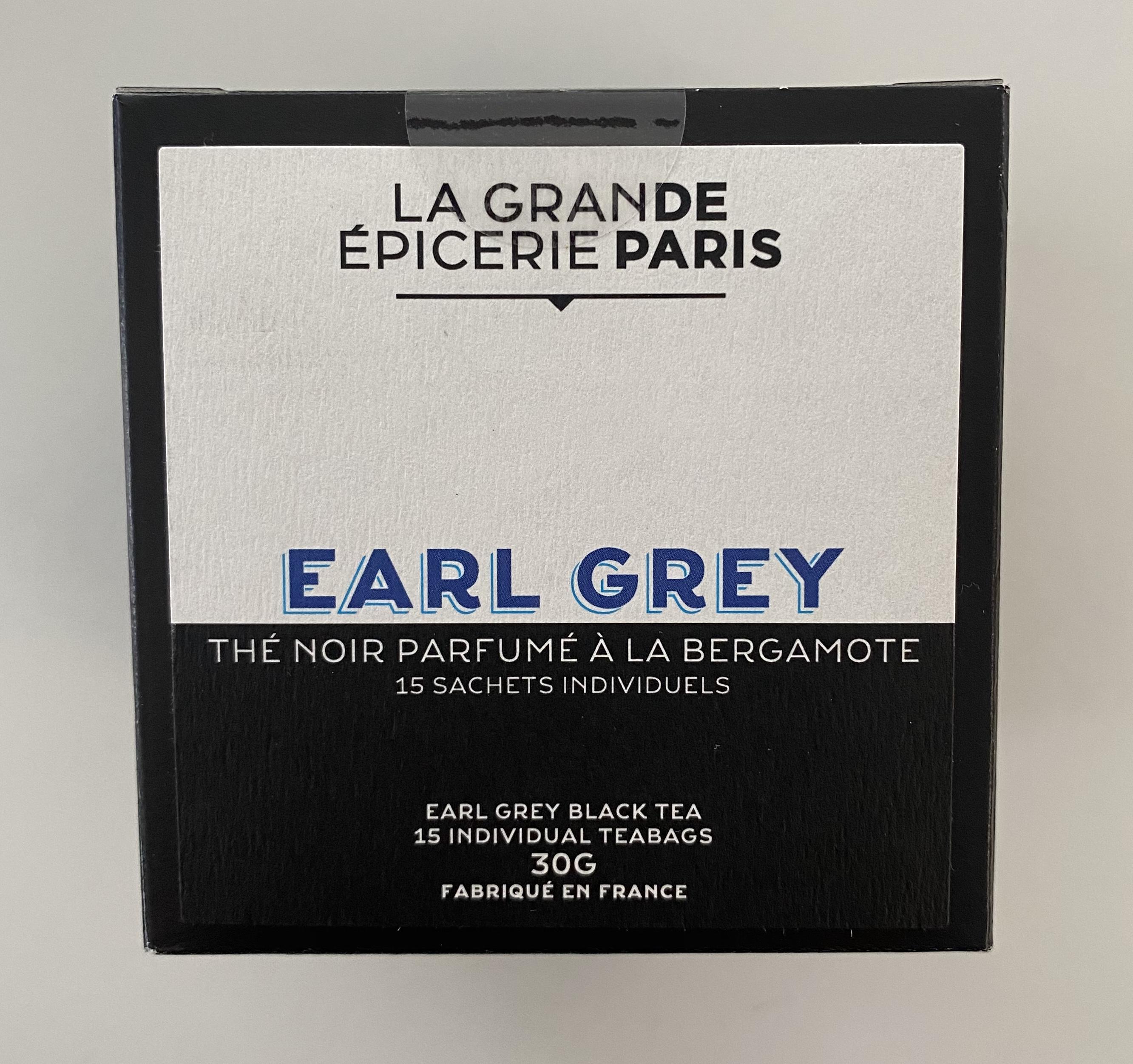 Thé Earl Grey, thé noir à la bergamote, La Grande Epicerie de Paris (x 15)
