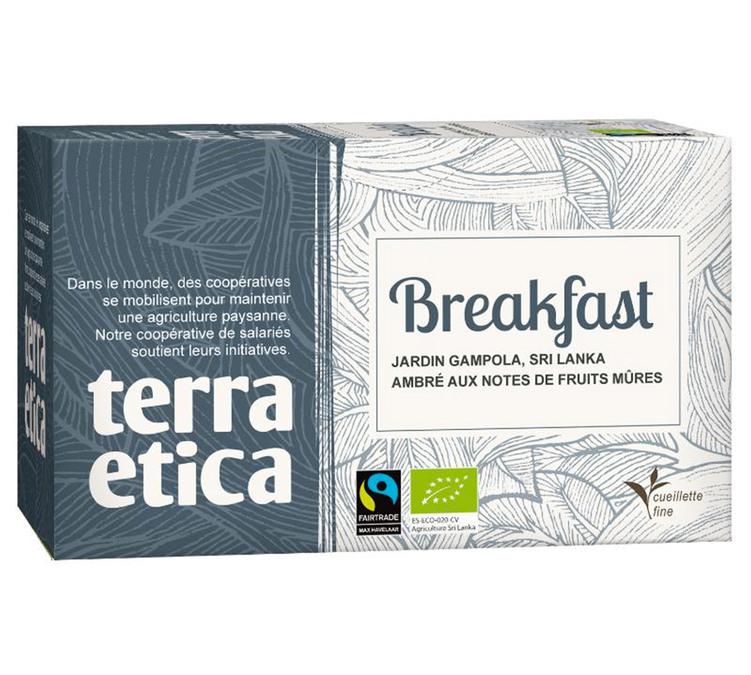 Thé breakfast BIO, Terra Etica (x 20 infusettes, 36g)