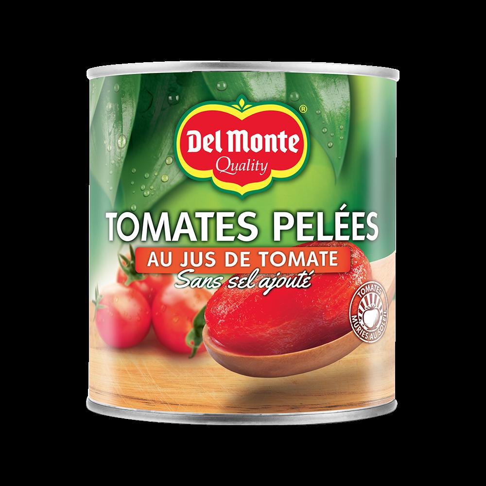 Tomates pelées au jus, Del Monte (850 g)
