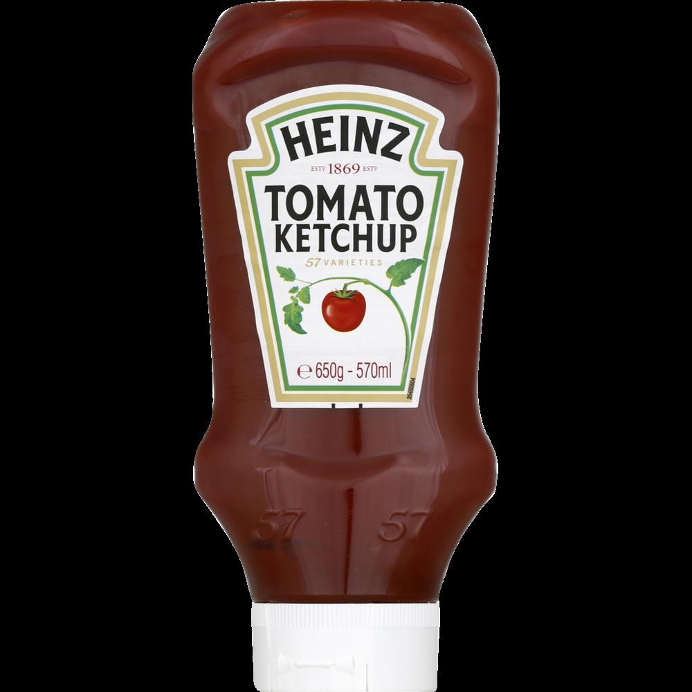 Ketchup top down en flacon, Heinz (650 g)