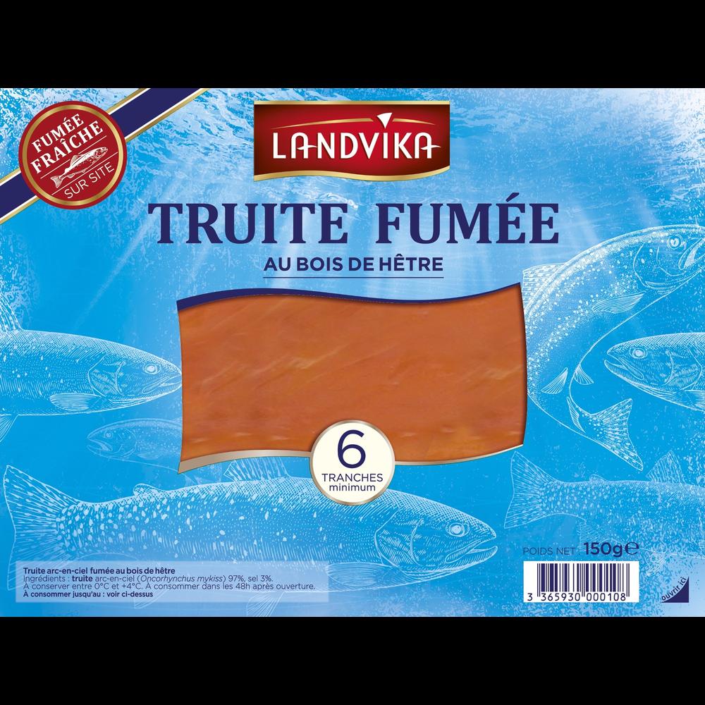 Truite fumée, Landvika (6 tranches, 150 g)