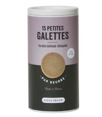Tube 15 petites galettes tradition, Goulibeur (150 g)