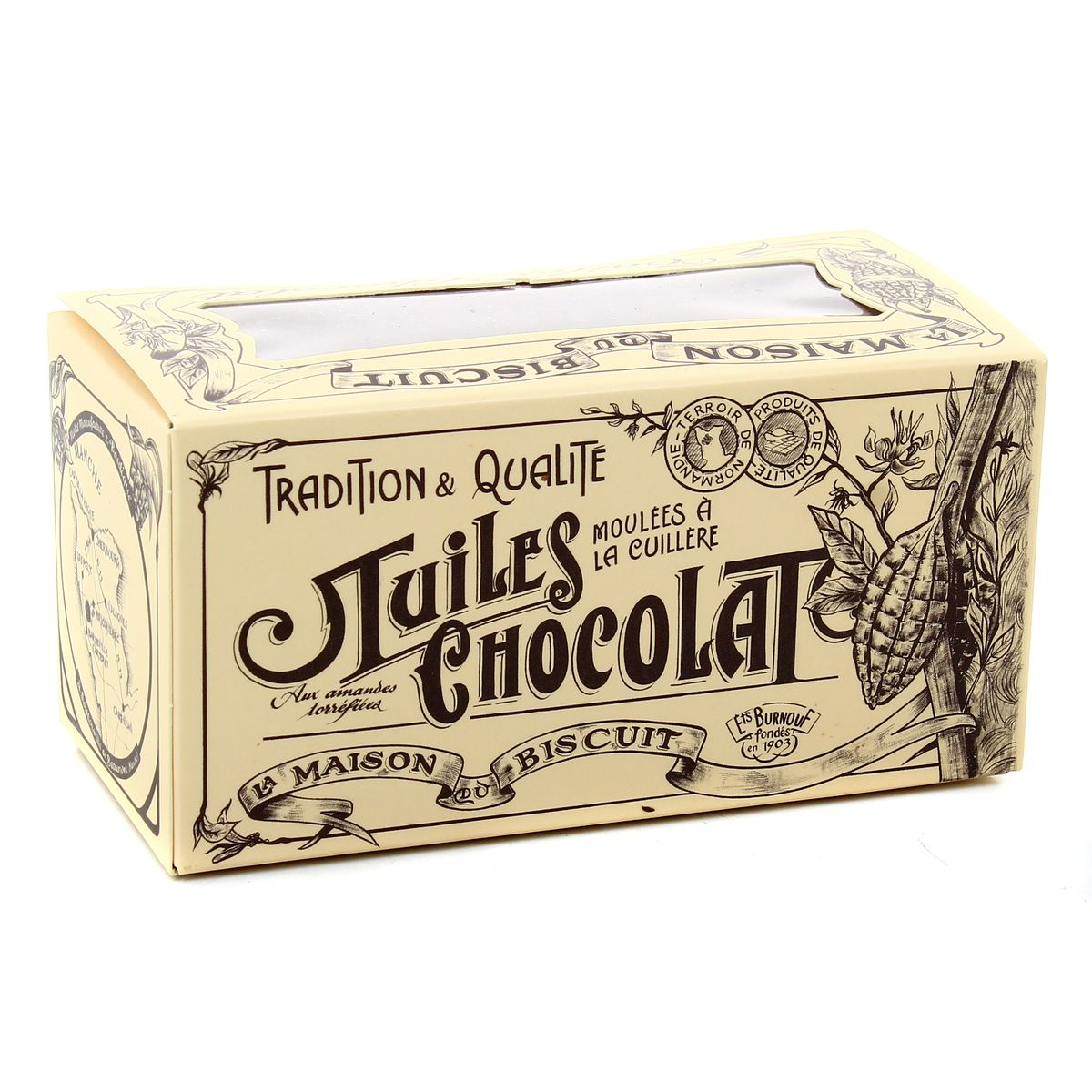 Ballotin de tuiles au chocolat noir, La Maison du Biscuit (170 g)