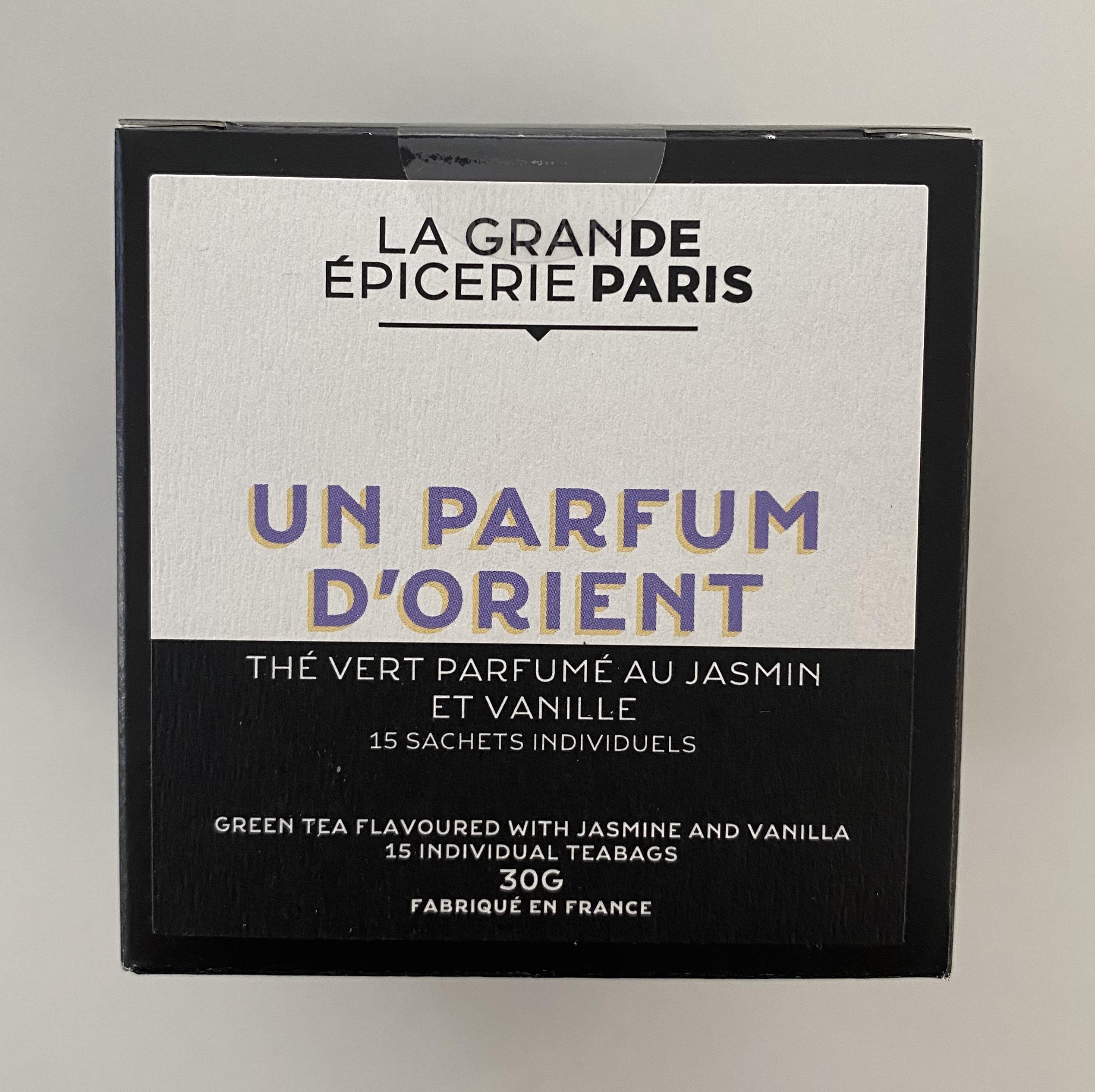 Un parfum d'Orient, thé vert au jasmin et vanille, La Grande Epicerie de Paris (x 15)
