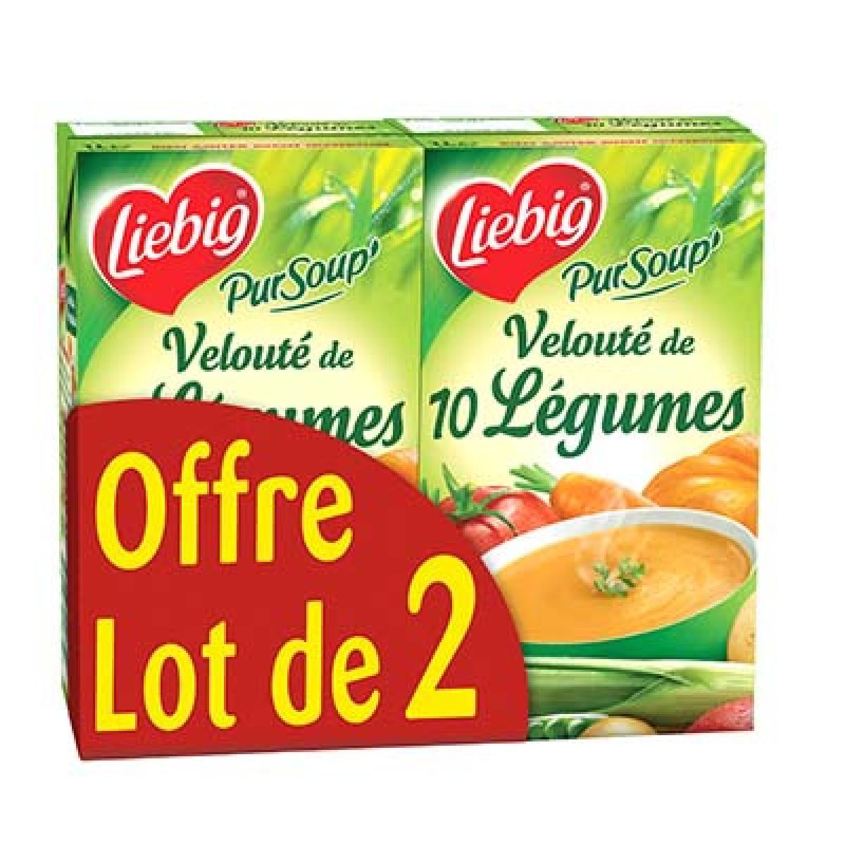 Velouté de 10 légumes PurSoup', Liebig LOT DE 2 (2 x 1 L)