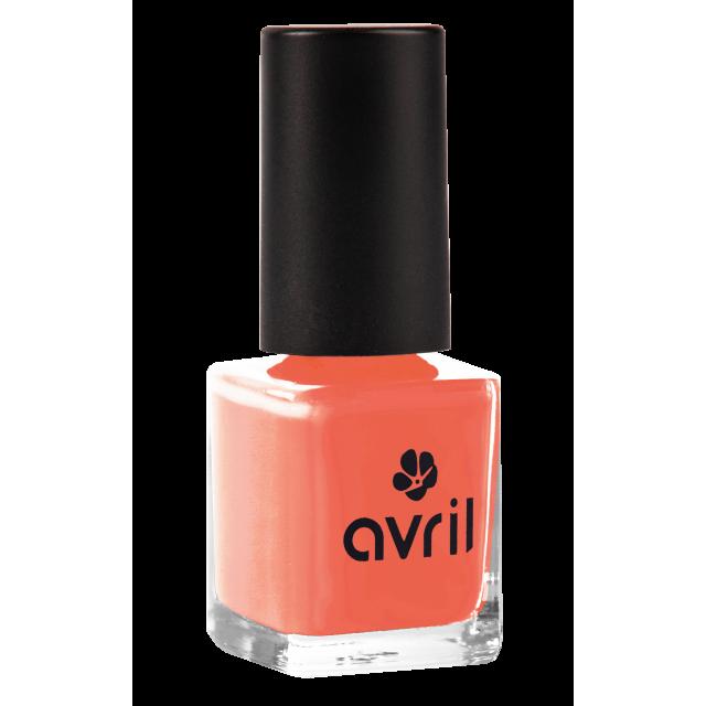Vernis à ongles corail n°02, Avril (7 ml)