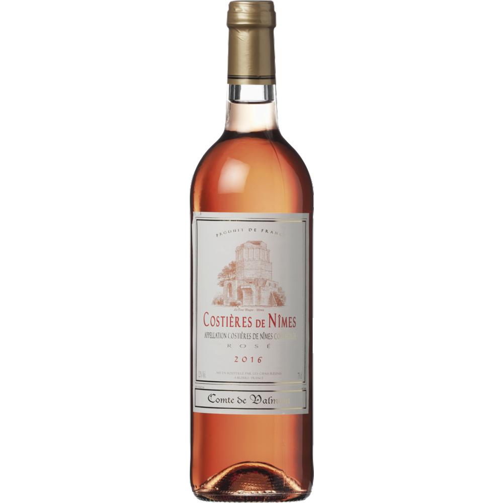 Costières de Nîmes AOC rosé Comte de Valmont 2018 (75 cl)