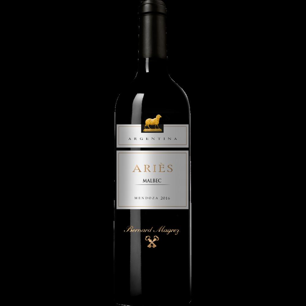 Vin rouge d'Argentine Aries Mendoza Malbec 2018 (75 cl)