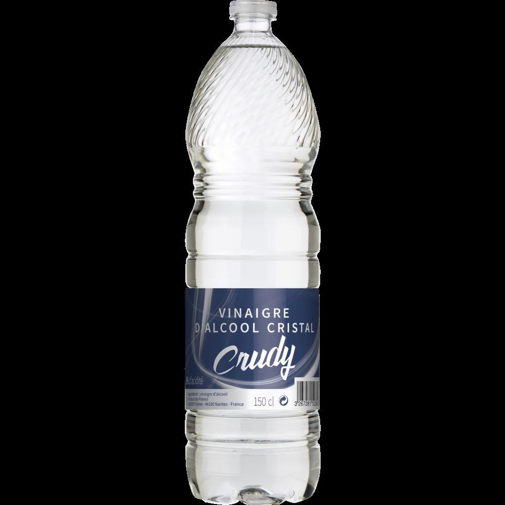 Vinaigre blanc d'alcool cristal, Crudy (1.5 L)