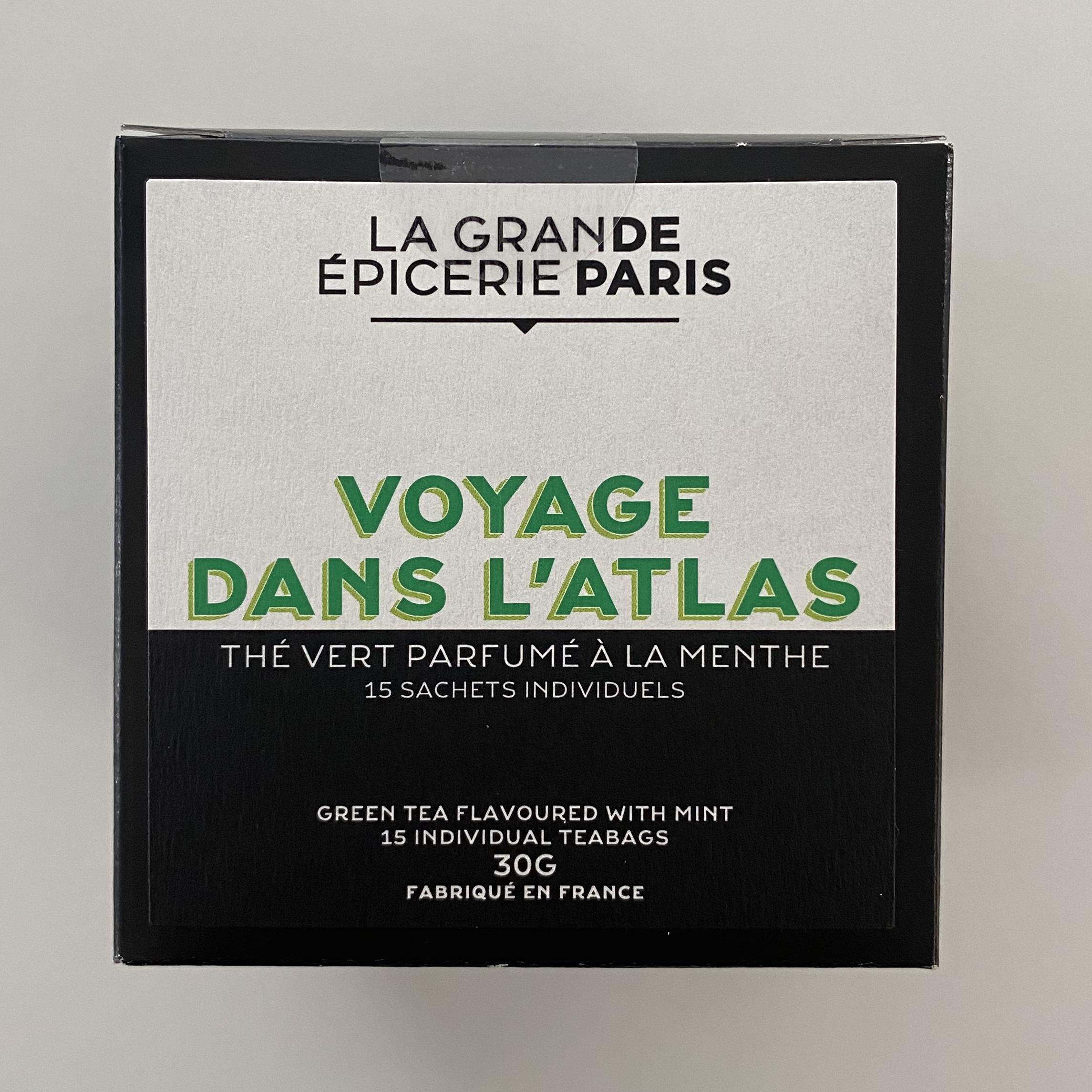 Voyage dans l'Atlas, thé vert à la menthe, La Grande Epicerie de Paris (x 15)