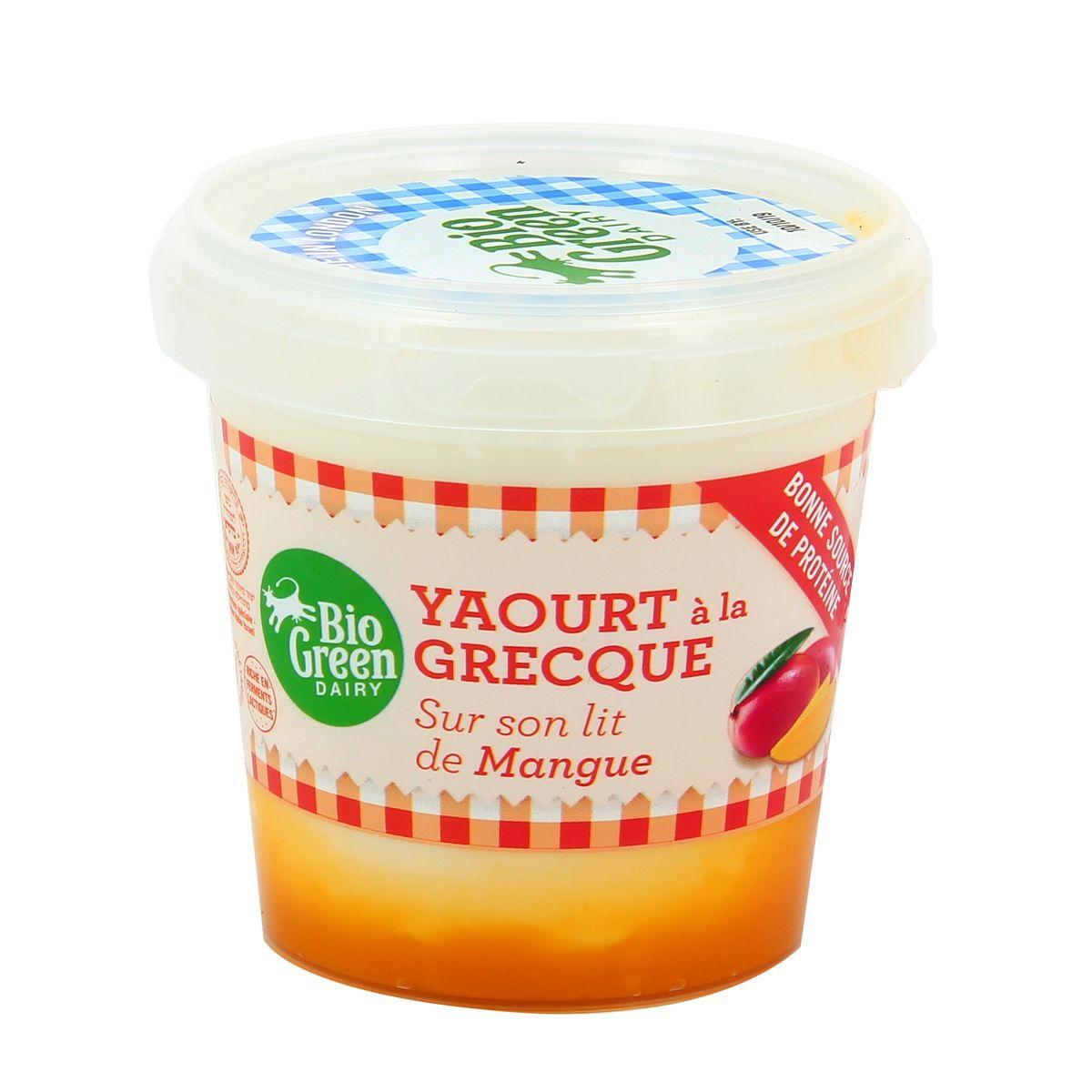 Yaourt mangue à la Grecque, Bio Green Dairy (170 g)