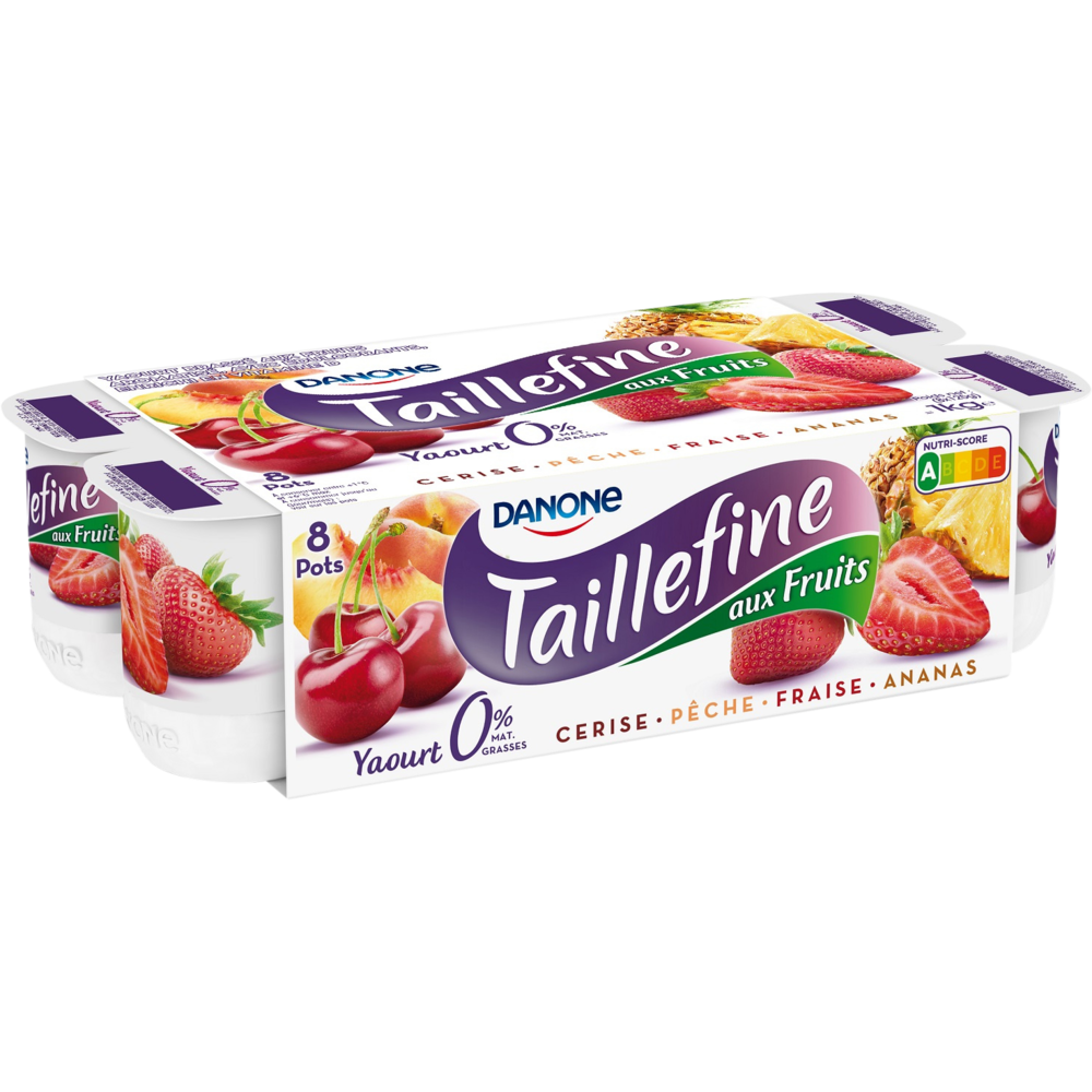 Yaourt Taillefine brassé aux fruits panaché, Danone (8 x 125 g)