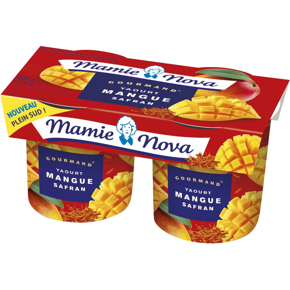Yaourt Gourmand mangue et safran, Mamie Nova (2 x 150 g)