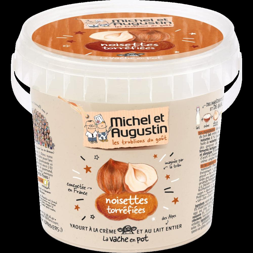 Yaourt onctueux noisette, Michel et Augustin (500 g)