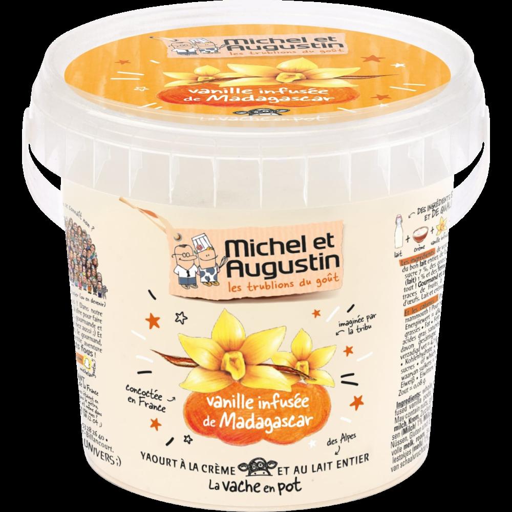 Yaourt onctueux vanille de Madagascar, Michel et Augustin (500 g)