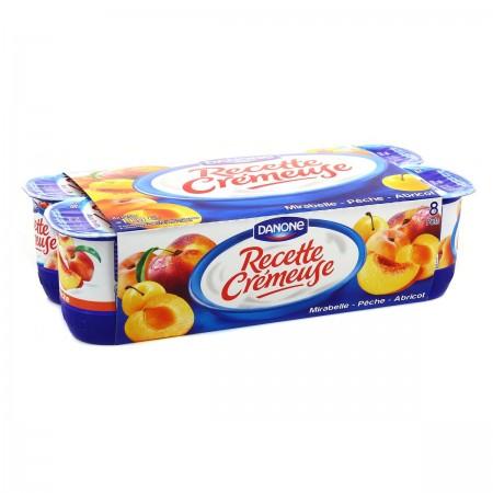 Yaourt recette Crémeuse Fruits Jaunes, Danone (8 x 125 g)