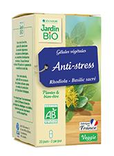 Gélules végétales Anti-stress - Rhodiola Basilic sacré (x 40)
