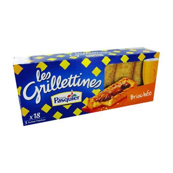 Grillettines briochées, Pasquier (x18, 255 g)