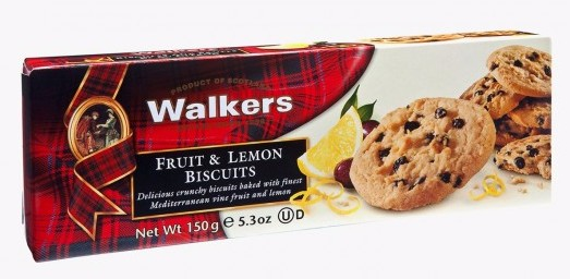 Biscuits fruit & lemon, Walkers (150 g)