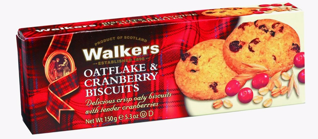 Oatflakes & cranberry, Walkers (150 g)