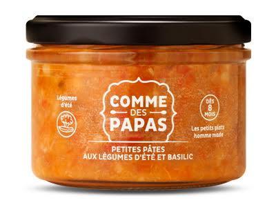 Petites pâtes aux légumes d'été et basilic BIO - 8 mois Comme des Papas (180 g)